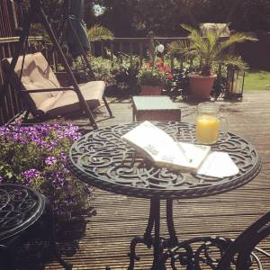Writing, garden, summer