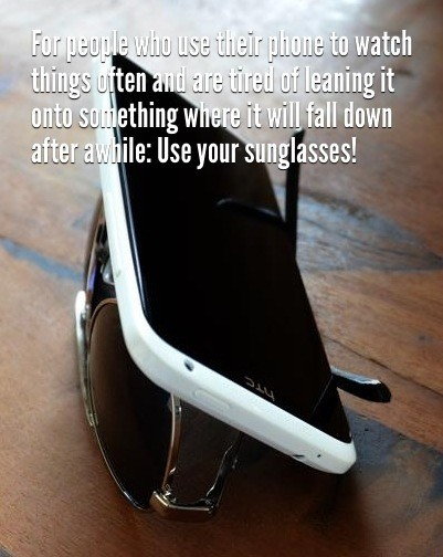 87-lean-your-phone-on-your-sunglassess