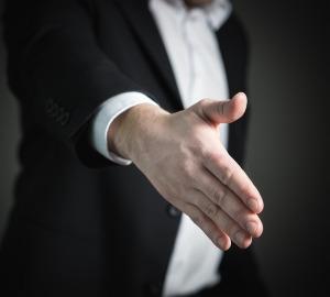 hand shake, job interview,
