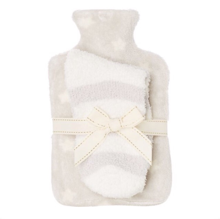 Fluffy hot water bottle