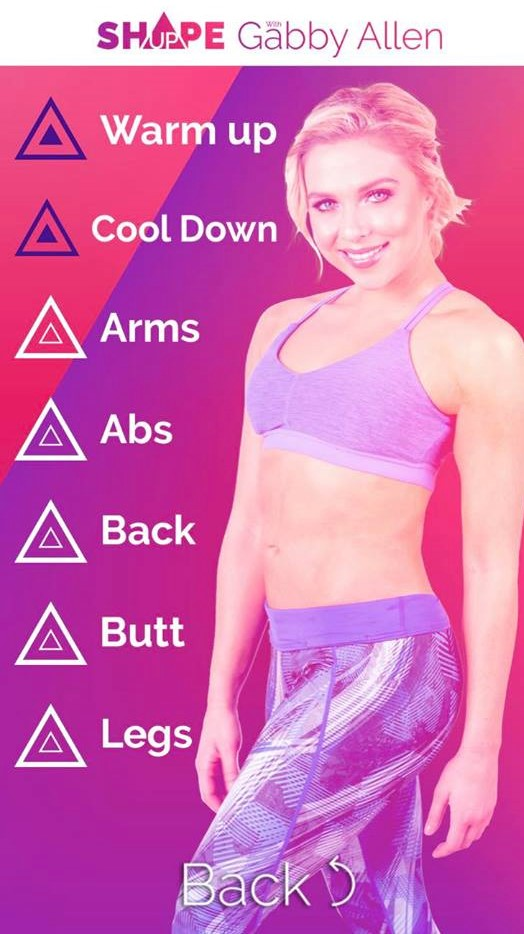 gabby allen, workout